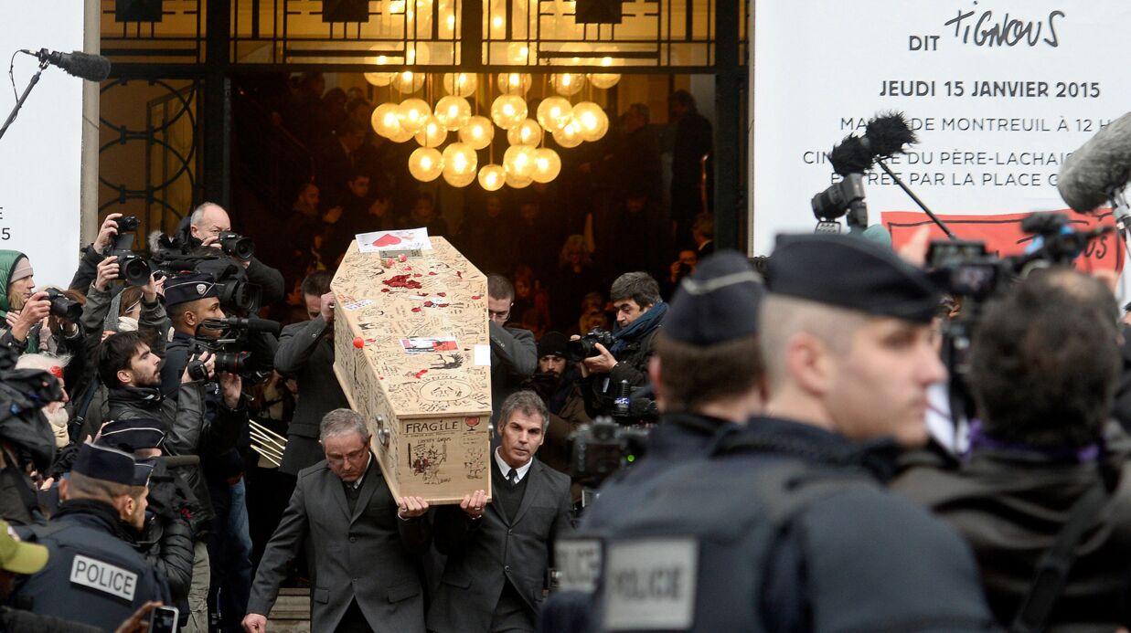Obsèques de Tignous: Christiane Taubira et Christophe Alévêque saluent sa mémoire