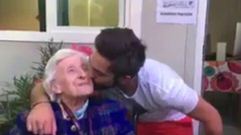 VIDEO Kendji Girac a enfin rencontré sa très enthousiate fan centenaire