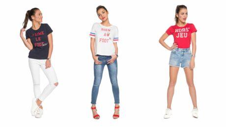 Pour l'Euro 2016, Cache Cache lance sa collection de tee-shirts sur le foot so girly