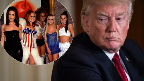 Donald Trump regarde et commente les fesses d'une Spice Girl, devant elle et Melania… la vidéo qui gêne