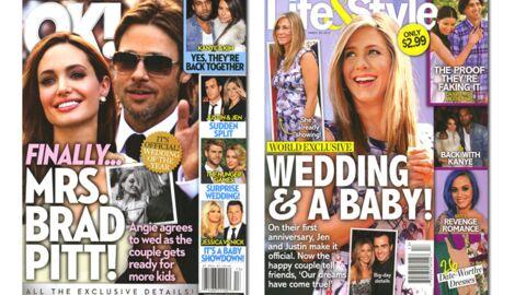 En direct des US: Aniston est enceinte et Kardashian flirte avec Kanye West