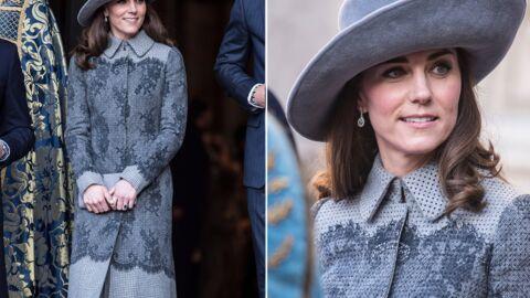 PHOTOS Kate Middleton: drôle de look pour une cérémonie avec la reine d'Angleterre