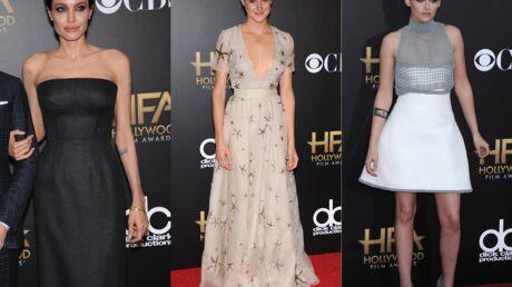 DIAPO Angelina Jolie amincie, Shailene Woodley décolletée, Kristen Stewart sexy aux Hollywood Film Awards