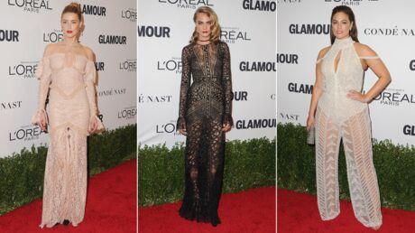 PHOTOS Amber Heard et Ashley Graham décolletées, Cara Delevingne en robe transparente pour Glamour
