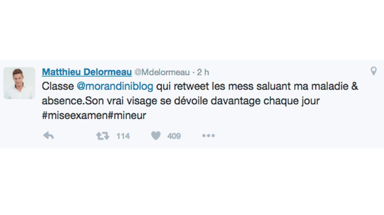 Matthieu Delormeau publie un tweet assassin destiné à Jean-Marc Morandini