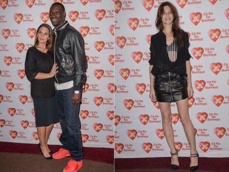 DIAPO Omar Sy amoureux, Charlotte Gainsbourg sexy à l'avant-première de Samba