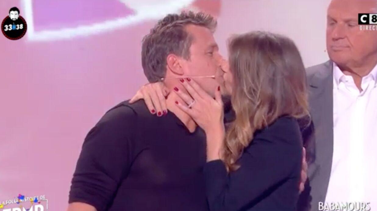 VIDEO Benjamin Castaldi et sa femme très amoureux sur le plateau de Cyril Hanouna