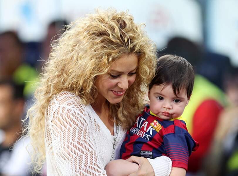 Shakira et son fils, Milan au stade