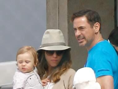 Robert Downey Jr quitte Paris avec sa femme et son fils