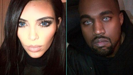 PHOTOS Kim Kardashian et Kanye West en version yeux bleus