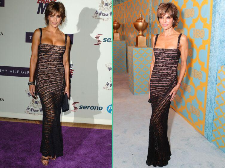 Devinerez- vous la stupéfiante différence d'âge entre ces deux photos de Lisa Rinna?