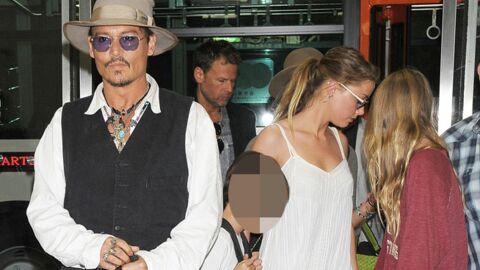 DIAPO Johnny Depp au Japon avec Amber Heard et ses enfants