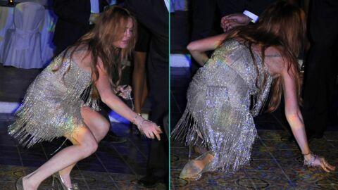 PHOTOS Lindsay Lohan se casse la figure en public