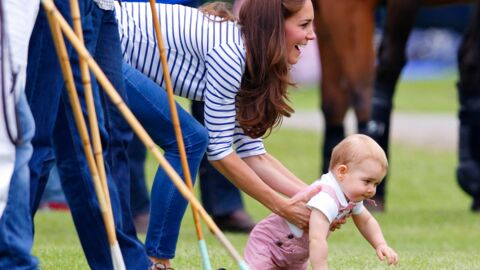 PHOTOS Trop craquants, Kate et George encouragent le prince William