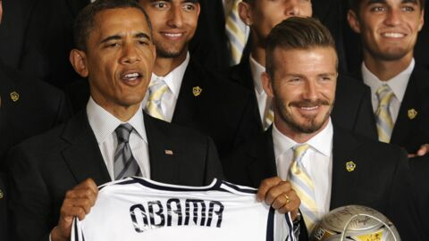 PHOTOS Barack Obama et David Beckham : leur rencontre LOL