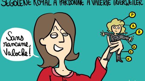 Louison a croqué: Ségolène Royal n'en veut (presque) plus à Valérie Trierweiler