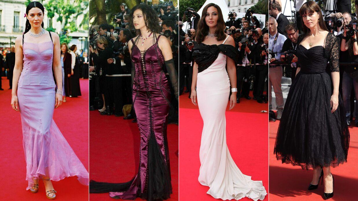 PHOTOS Les Festivals de Cannes de Monica Bellucci: elle embellit avec les années