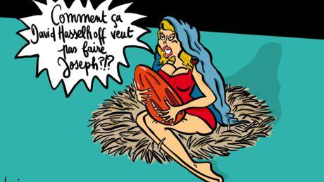 Louison a croqué: Pamela Anderson en Vierge Marie