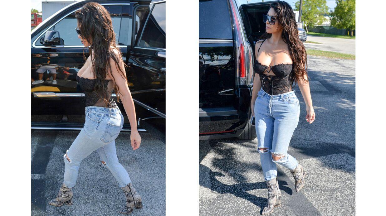 PHOTOS Kim Kardashian: son énorme raté mode ET décolleté, en affreux body de dentelle