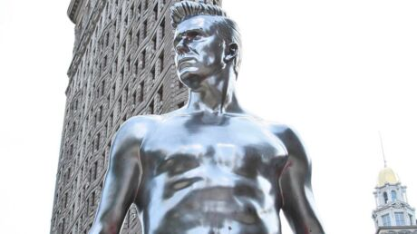 PHOTOS David Beckham statufié en sous-vêtements dans New York