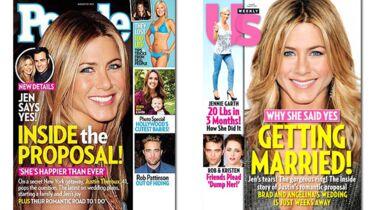 Jen VS Brad: la course au mariage