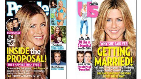 En direct des US: tout sur les fiançailles de Jennifer Aniston