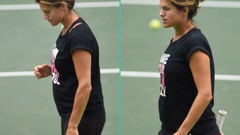 PHOTOS Amélie Mauresmo affiche ses premières rondeurs de femme enceinte