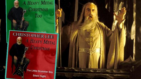 christopher lee 91 ans chante nol en version heavy metal - Christopher Lee Heavy Metal Christmas