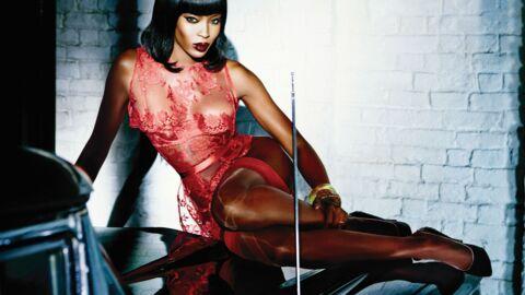 PHOTOS Naomi Campbell ultra sexy pour une pub pour de la lingerie