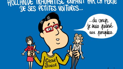 Louison a croqué: le traumatisme de François Hollande