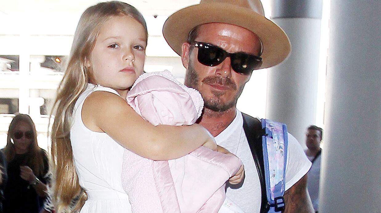 David Beckham avoue qu'il n'arrive pas à être sévère avec sa fille Harper