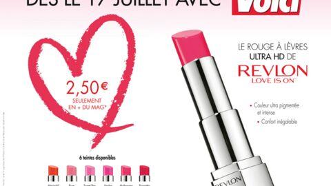 Cette semaine avec Voici, un rouge à lèvres Revlon ultra HD disponible en six teintes!