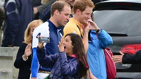 DIAPO William et Harry provoquent l'hystérie d'une fan à un match de polo