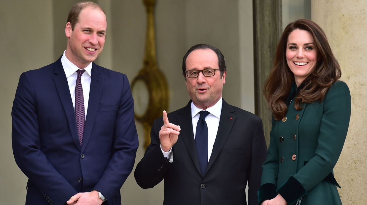PHOTOS Kate Midd­le­ton et le prince William accueillis par François Hollande à l'Ely­sée