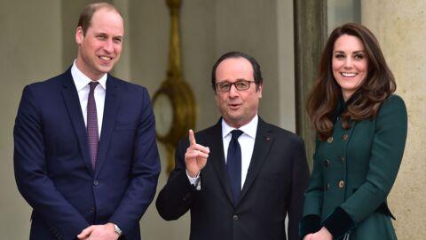 PHOTOS Kate Middleton et le prince William accueillis par François Hollande à l'Elysée