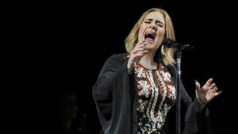 VIDEO Adele est surprise par une chauve-souris en plein concert, sa réaction est hilarante