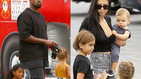 PHOTOS Kourtney Kardashian, Kanye West et les enfants à l'anniversaire du fils de Tyga