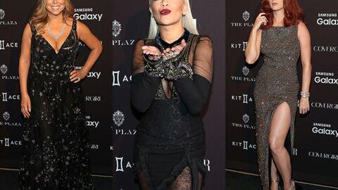 PHOTOS Katy Perry incendiaire, Mariah Carey en décolleté plongeant pour la soirée Harper's Bazaar