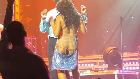 VIDEO Toni Braxton chante les fesses à l'air (et personne ne la prévient)