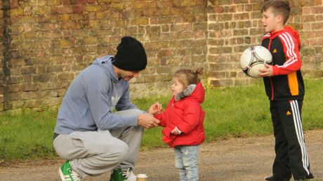 PHOTOS David Beckham papa poule avec Harper et ses garçons
