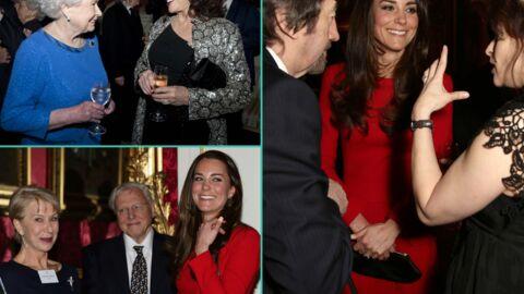 PHOTOS Elizabeth II et Kate Middleton reçoivent les stars de la comédie à Buckingham