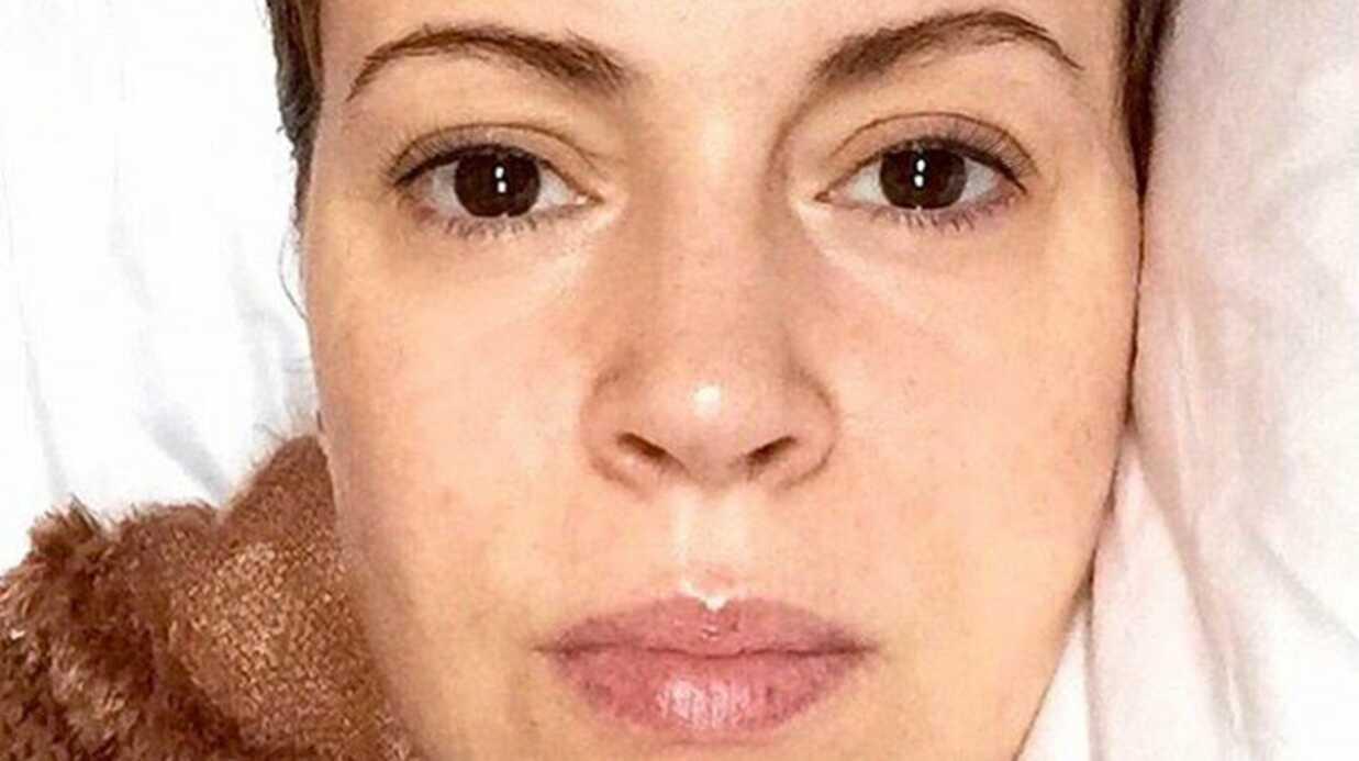 PHOTO Malade, Alyssa Milano pose sans maquillage sur Instagram
