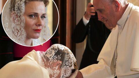 PHOTOS L'émotion de Charlène de Monaco lors de son audience avec le pape François