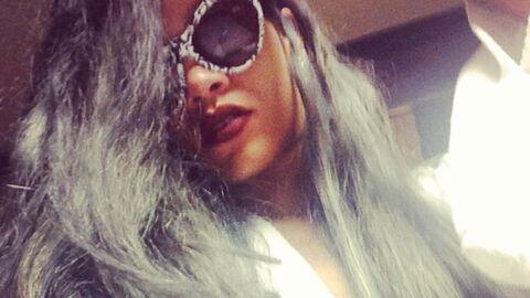 PHOTOS Rihanna s'est teint les cheveux en gris!