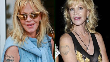 PHOTOS Melanie Griffith masque le nom d'Antonio Banderas sur son tatouage