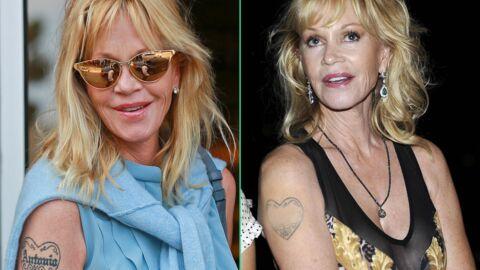 PHOTOS Melanie Griffith masque le nom d'Antonio Banderas sur son tatouage