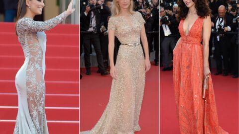 DIAPO Cannes 2015: la robe transparente d'Eva Longoria, Andie MacDowell ultra décolletée