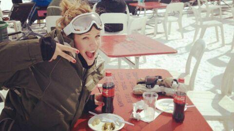 DIAPO Faute de scène, Lorie s'éclate au ski