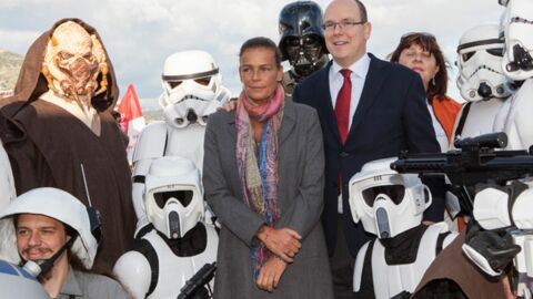 PHOTOS Albert II de Monaco et Stéphanie rencontrent Dark Vador
