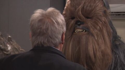 VIDEO Harrison Ford insulte copieusement Chewbacca